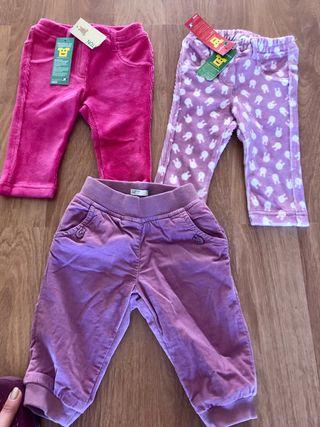 Pantalones legging niña 6/9 meses benetton