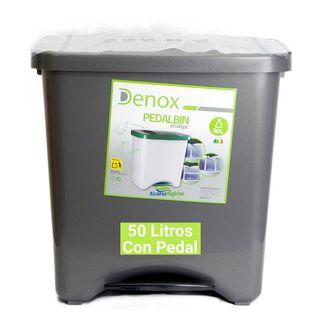 Cubo de basura ecológico 50 litros gris