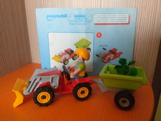 Playmobil. Niño con tractor