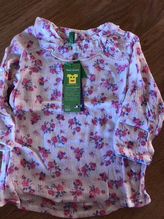 Camisa niña benetton con etiqueta
