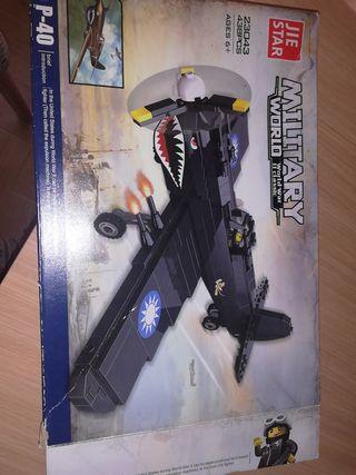 Avión para montar tipo lego