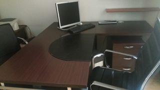 Mesa oficina en ele con cajonera