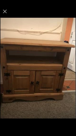 oak wood tv unit