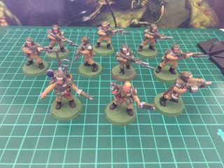 Warhammer 40k Guardia Imperial x10.