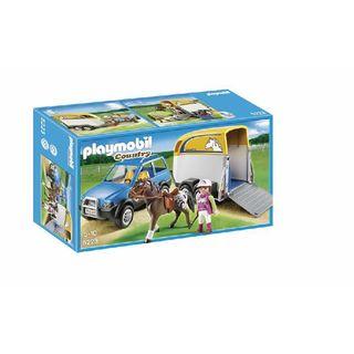 Playmobile country caballo con remolque