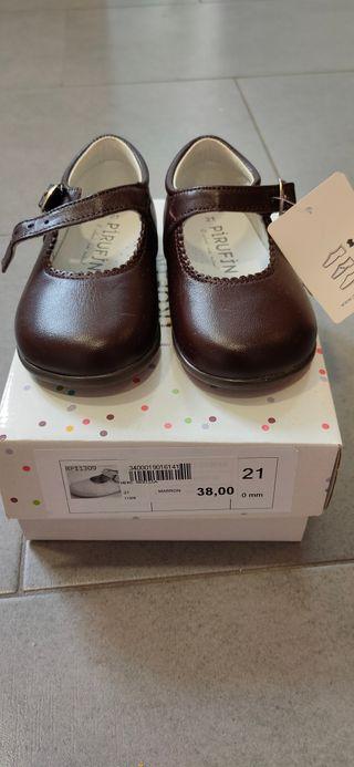 Zapatos niña piel num.21