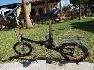 Bicicleta plegable de aluminio con suspensión