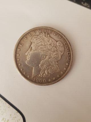 moneda one dollar 1900.
