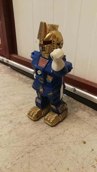 juguete robot vintage antiguo