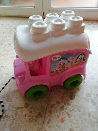 coche de juguete para bebés de mickey y mini mouse