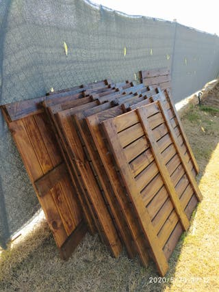 Suelo exterior madera 1x1m