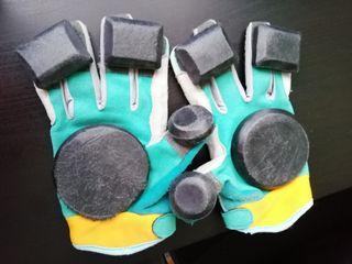 guantes long board o skate monopatín, patinete