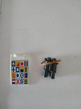 prismáticos y cartas de navegación Playmobil