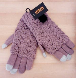 Guantes de lana Lila para señora.