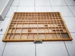 Cajón imprenta chibalete madera