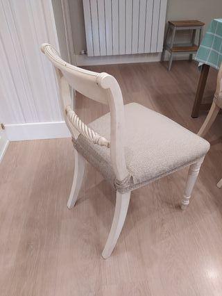 sillas de comedor de madera maciza lacadas