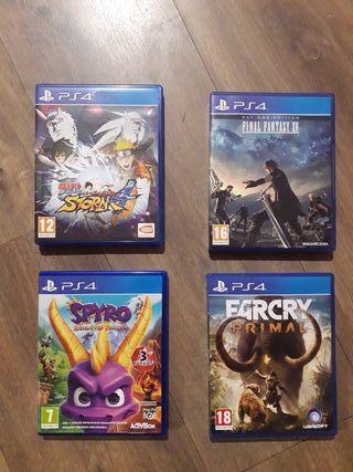 Lote 4 juegos ps4