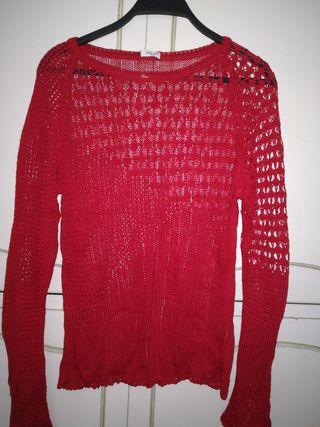 Jersey Punto Rojo Calado.