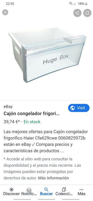 cajon frigorifico haier