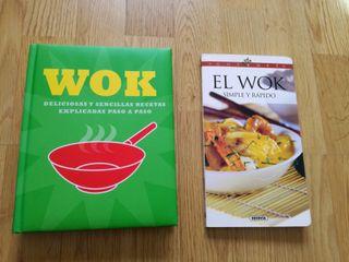 Pack de dos libros de cocina sobre Wok