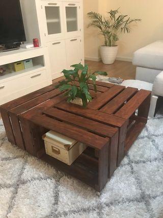 Mesa cajas madera