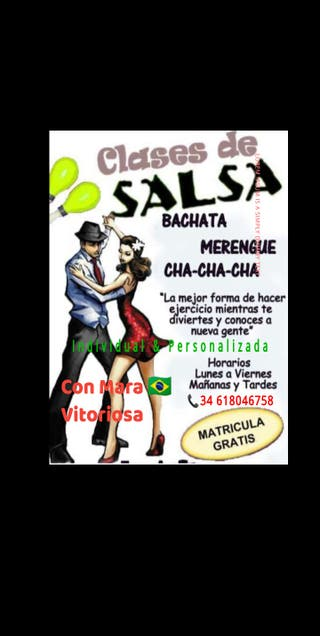 Clases particulares baile salón