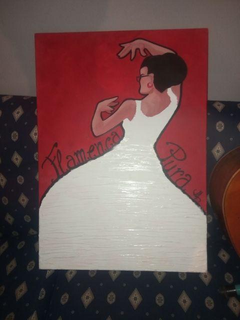 cuadro flamenca pura y gitarra decoracion