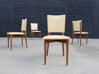 Set de 4 sillas francesas. Vintage 60s.