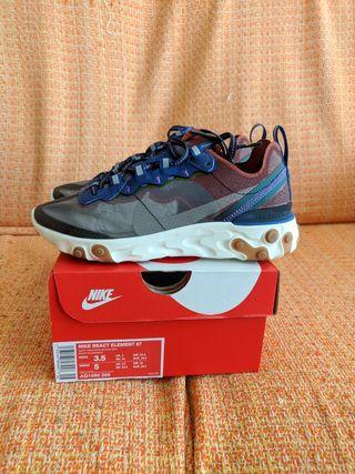 Zapatillas Nike React Element 87 Dusty Peach