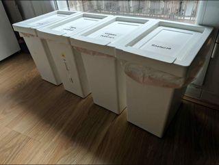 4 cubos de basura IKEA 10l perfectos para reciclar
