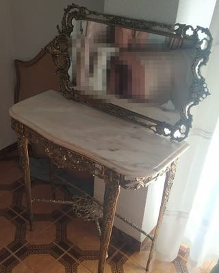 conjunto mesa recibidor y espejo