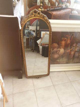 precioso espejo alargado madera