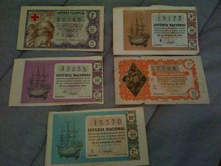 billetes lotería años 60