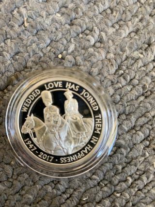 Platinum wedding 2017 1oz silver proof coin