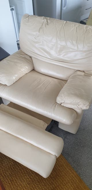 Beige Reclining Chair