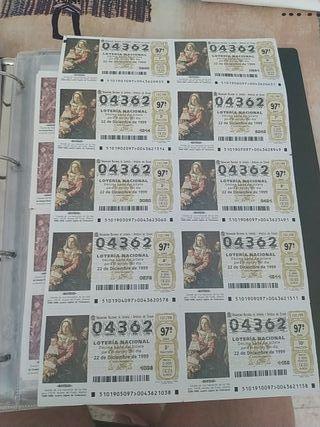 Lotería Nacional, 2 billetes 1999