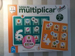Juego didactico Tablas multiplicar