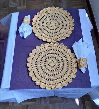 Manteles individuales a Crochet