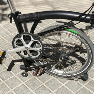 Bicicleta plegable Brompton negra M6l del 2018