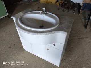 Mueble baño lavabo mármol