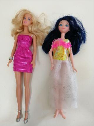Barbie rubia y morena