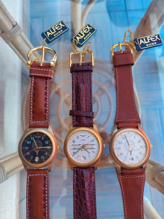 Coleccion relojes suizos Alfex Aviator.