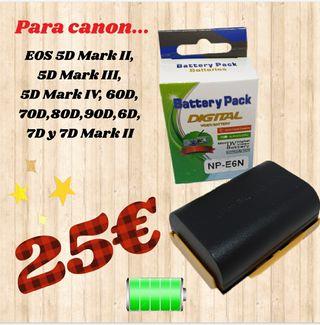 baterias para canon