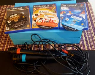 4 jocs Singstar PlayStation 2 més micròfons.