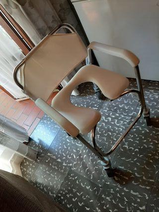 silla para ducha y w.c