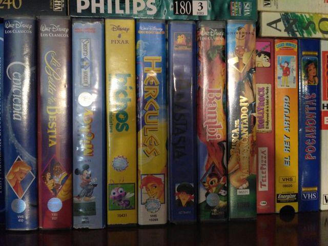 10 cintas de videos VHS infantiles