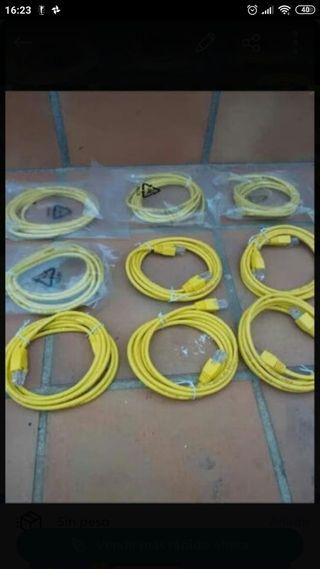 lote de 10 cables de red ( nuevos a estrenar )