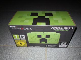 Nintendo 2DS XL Minecraft NUEVA
