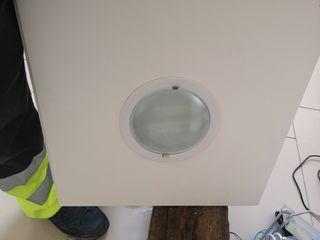 luz techo placa plafon bombilla bajo consumo