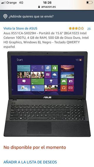 Portatil Asus X551CA ordenador